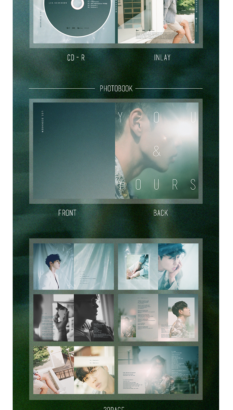 Lee Seok Hoon - Mini Album Vol.3 [you&yours]