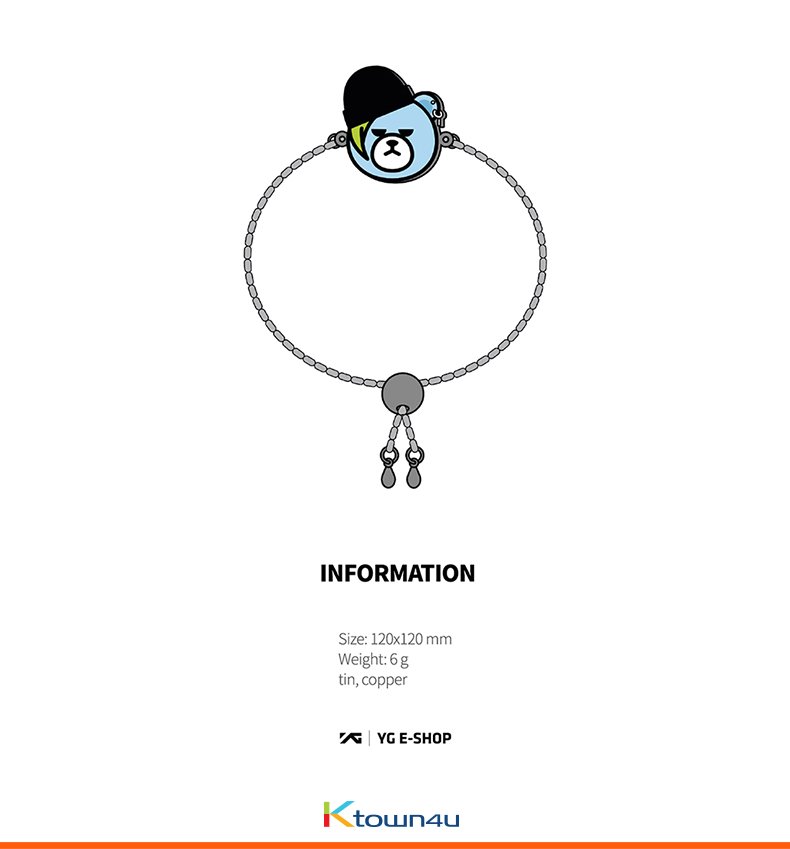 [MOTTE] G-DRAGON - G-DRAGON X KRUNK POP BRACELET (Order can be canceled cause of producing issue)