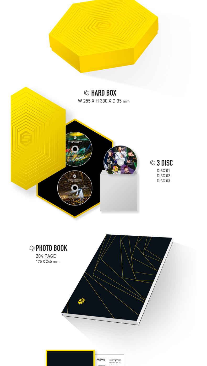 [DVD] SECHSKIES - 2017 SECHSKIES [YELLOW NOTE] FINAL IN SEOUL DVD