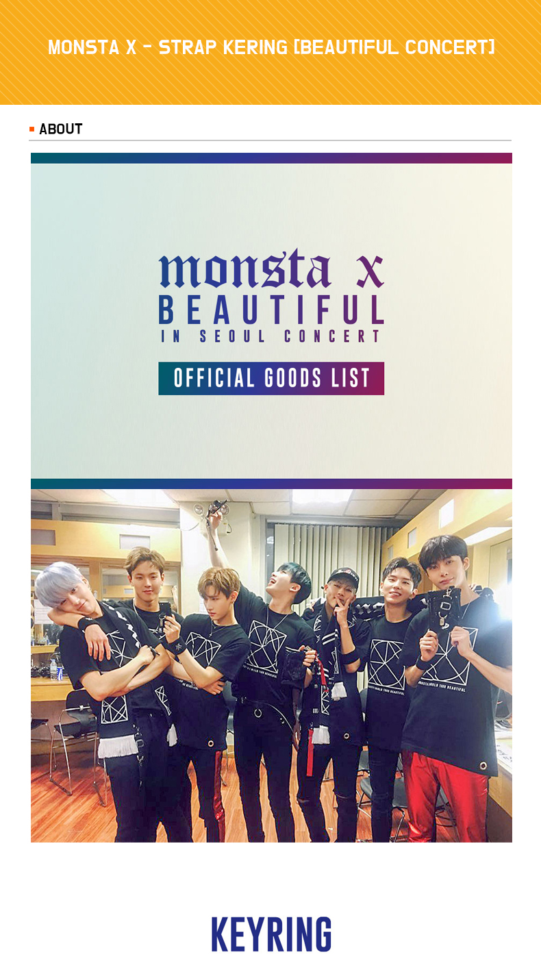 MONSTA X - STRAP KERING [BEAUTIFUL CONCERT]