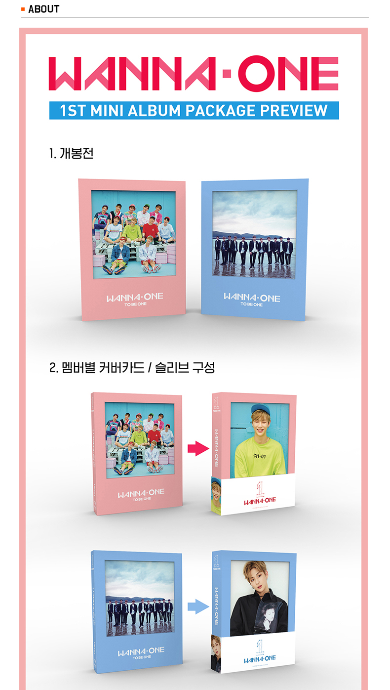 [SET][2CD SET] WANNA ONE - Mini Album Vol.1 [1x1=1(TO BE ONE)] (Sky Ver.) + (Pink Ver.)
