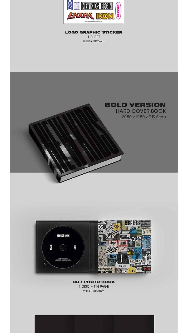 iKON - SINGLE ALBUM [NEW KIDS : BEGIN] (RANDOM ver.)