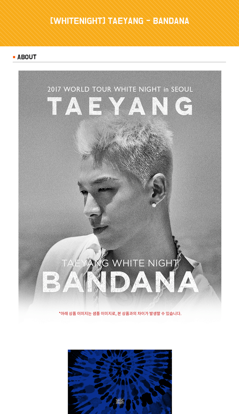 [WHITENIGHT] TAEYANG - BANDANA