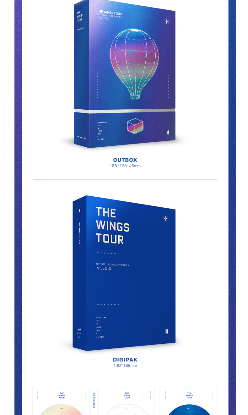 [DVD] BTS - 2017 BTS Live Trilogy EPI -SODE III  THE WINGS TOUR in Seoul CONCERT DVD