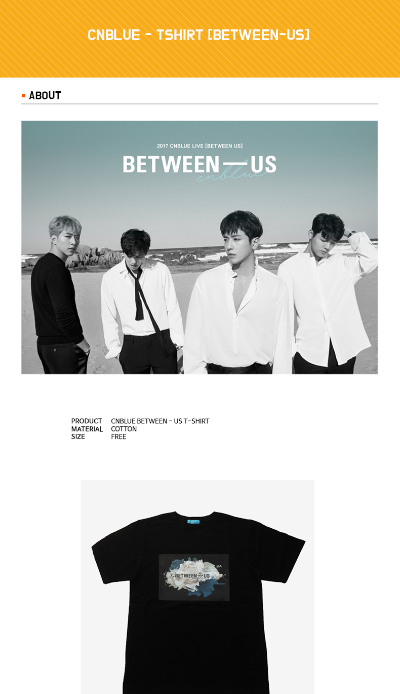 CNBLUE - TSHIRT [BETWEEN-US]