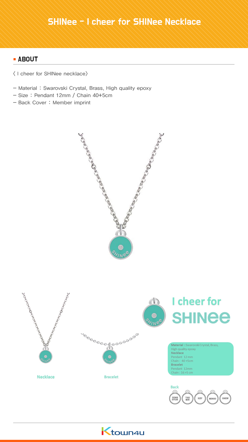 SHINee - I cheer for SHINee Necklace