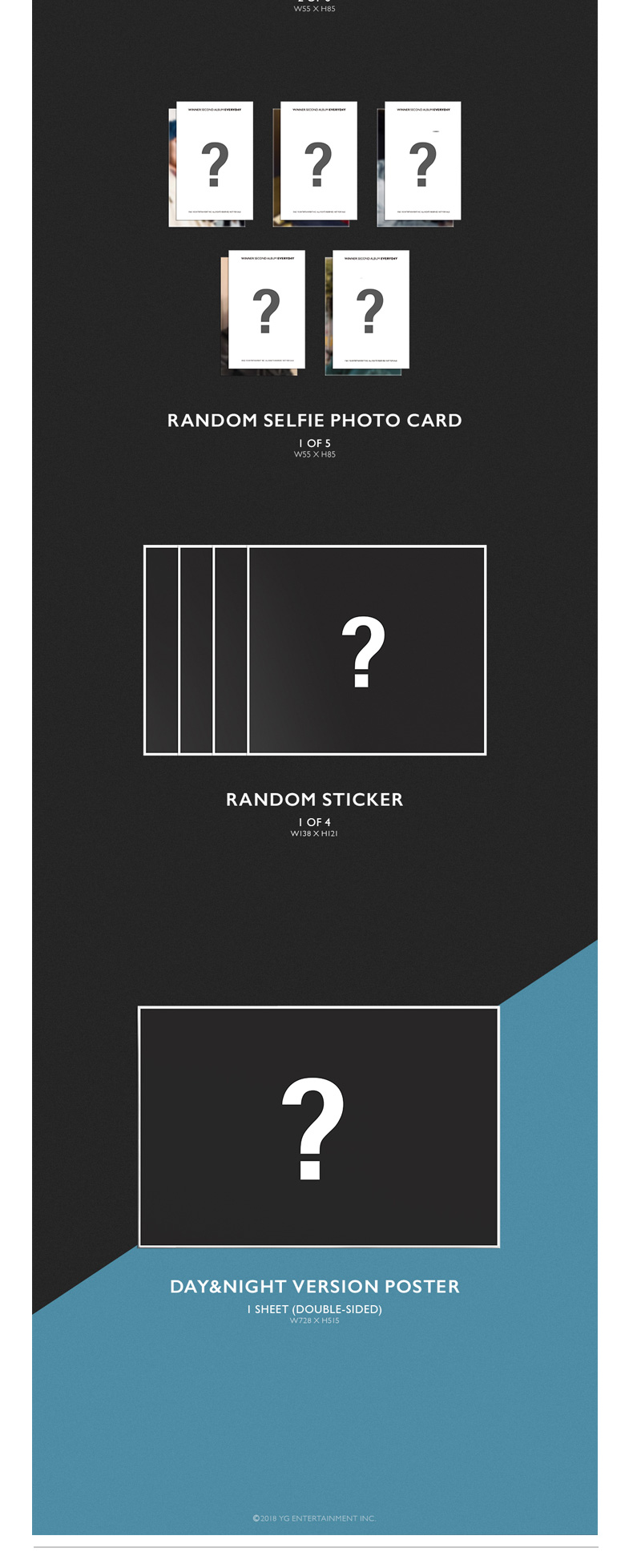 WINNER - Album Vol.2 [EVERYD4Y] (NIGHT Ver.) (Only Ktown4u's Special Gift: transparent photocard 2 pcs)