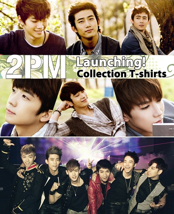 [ K-POP ] (JYP Official MD) 2PM Collection T-shirt (Jun Ho_E-1R_White_M)