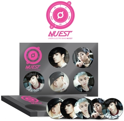 [ K-POP ] (Loen Official Goods) NU`EST - Pin Button Set