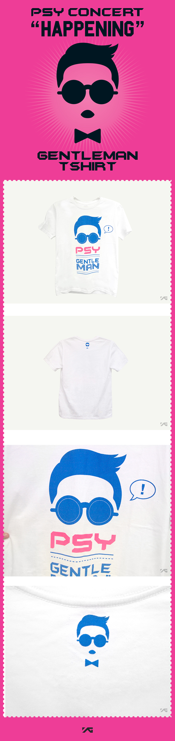 [ K-POP ] (YG Official MD) PSY Short sleeve T-shirts (M)