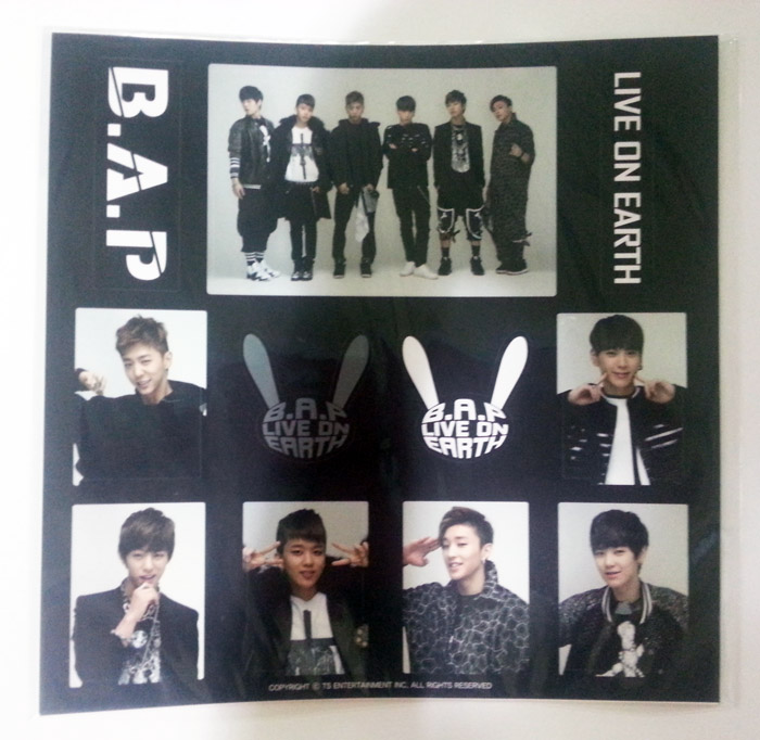 [ K-POP ] (B.A.P Official MD) B.A.P LIVE ON EARTH - Sticker Set