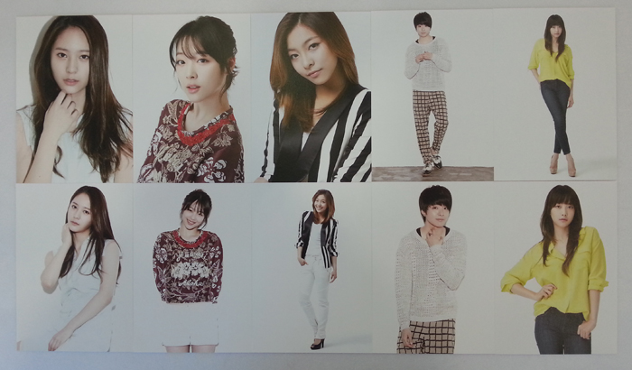 [ K-POP ] [SMTOWN WEEK LIMITED EDITION] f(x) -  Postcard Set (10p)