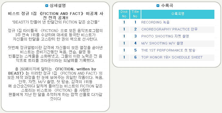[ K-POP ] Beast - Makingbook (Fiction. Written By Beast)