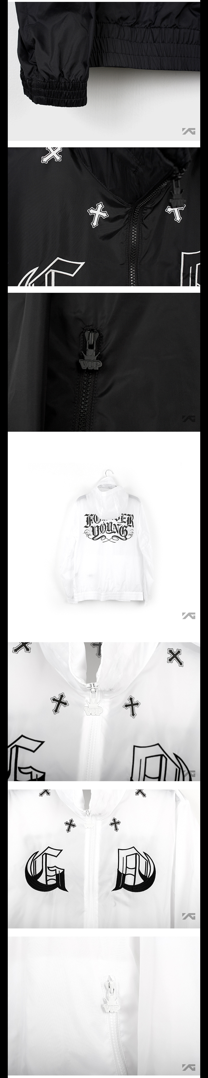 [ K-POP ] (YG Official MD) G-Dragon 2013 One Of A Kind Zip-Up Windbreaker (White_M)