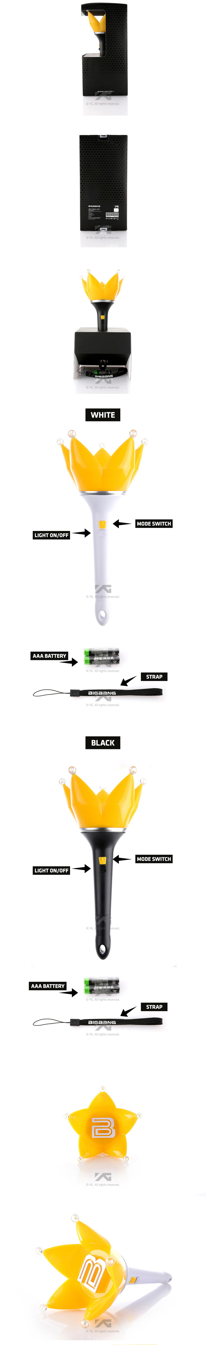 [ K-POP ] Big Bang - Fan Light stick (Ver.4) (White) [YG Official MD]