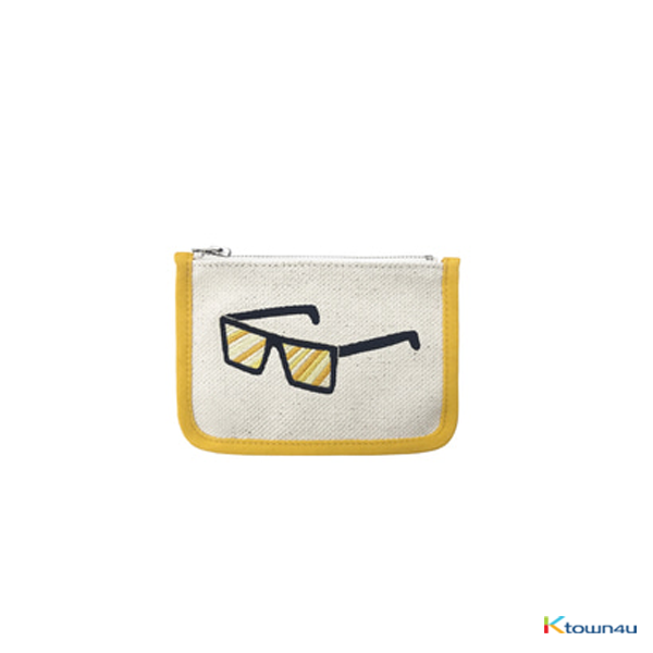 [SKULLHONG] SUNGLASS EMBROIDERY CARD WALLET [18SS]