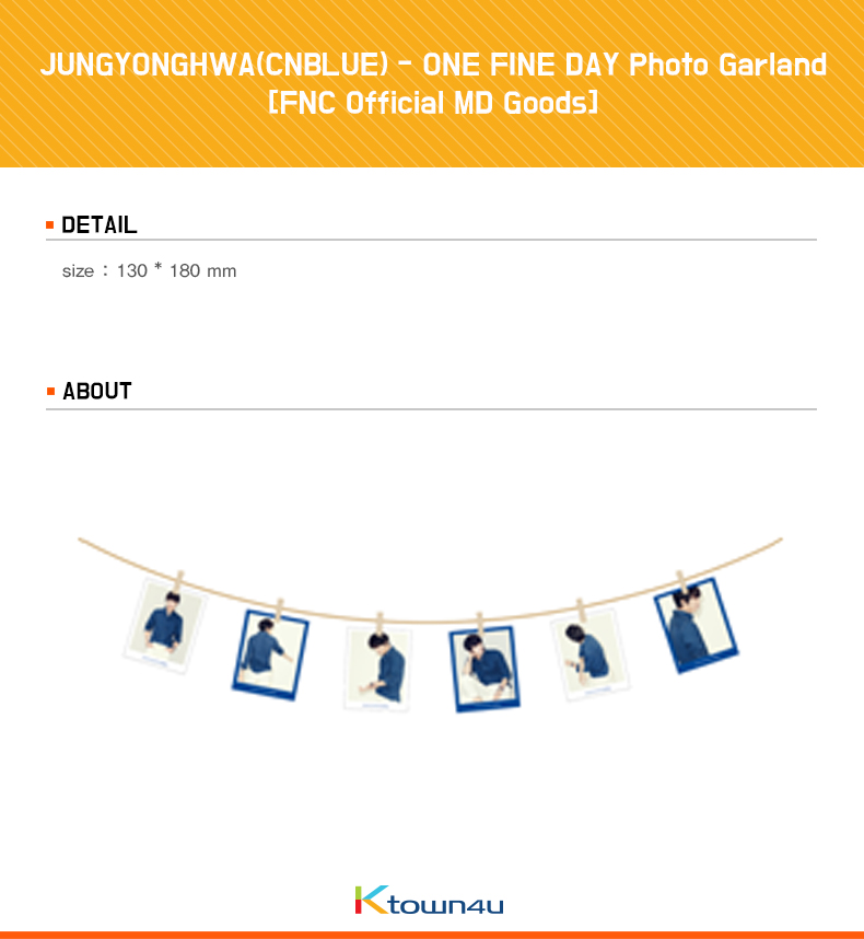 JUNGYONGHWA(CNBLUE) - ONE FINE DAY Photo Garland [FNC Official MD Goods]