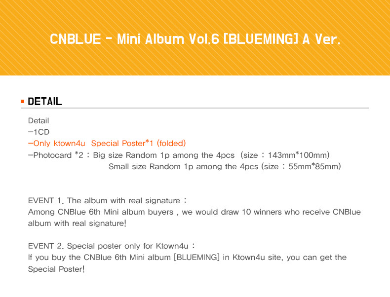 CNBLUE - Mini Album Vol.6 [BLUEMING] A Ver.